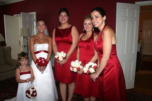 Granted, this picture is from my sister's wedding in 2008, but I just thought it helped make my point nicely. Plus, recognize anyone familiar in the wedding party? Hehe.)